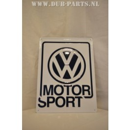 VW MOTORSPORT sign