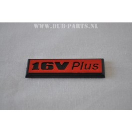 16V plus emblem 19X66mm