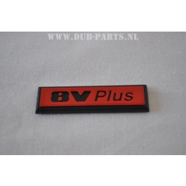 8V plus emblem 19X66mm