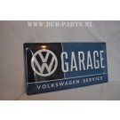 VOLKSWAGEN GARAGE sign